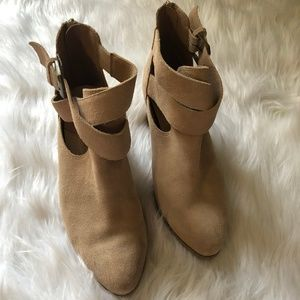 Sole Society Azure Suede Cut Out Booties Size 7.5